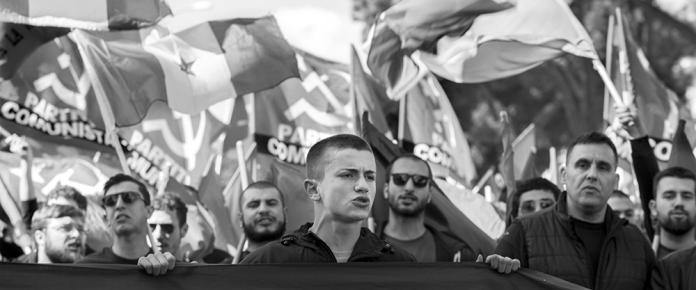 Rome, manifestation antifasciste