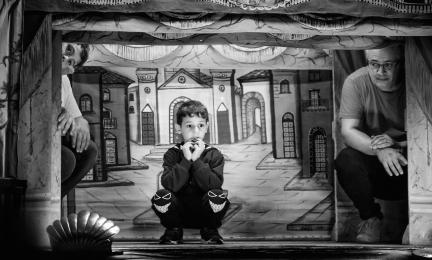Palerme, Opera dei Pupi théâtre Carlo Magno